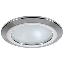 QUICK Kor xp downlight led - 4w, ip66, spring mounted - round stainless bezel, round warm white light