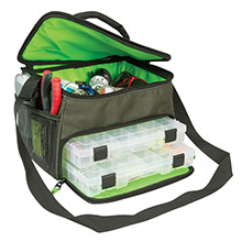 WILD RIVER Multi-tackle dual compartment medium bag w/2 trays