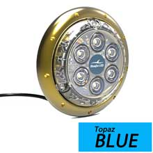 BluefinLED Barracuda b12 blue surface mount underwater light