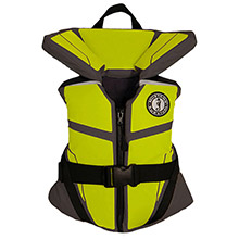 MUSTANG SURVIVAL Lilft Legends 100 Youth Vest - 50-90lbs - Gray/Flourescent Yellow/Green