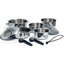 KUUMA PRODUCTS 10-piece stainless steel nesting cookware set induction