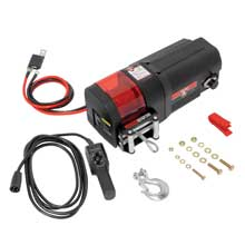 BULLDOG Dc2500 dc electric utility winch w/rope and remote