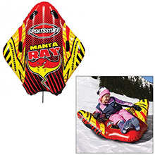 Sportsstuff Snow Sports Manta ray inflatable snow sled