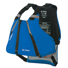 ONYX OUTDOOR MoveVent Curve Paddle Sports Life Vest - XS/S - Blue
