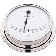 BARIGO Clinometer 5inch dial chrome housing viking series