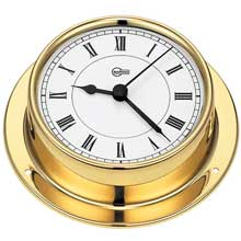 BARIGO Quartz clock 3.3inch dial brass housing tempo series