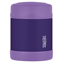 THERMOS Funtainer stainless steel, vacuum insulated food jar - purple - 10 oz.
