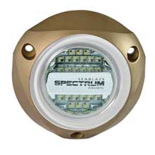 LUMITEC Seablazex spectrum underwater light %2D bronze housing %2D full%2Dcolor red blue green and white