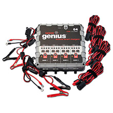 NOCO Genius G4 6V/12V 1100mA Battery Charger - 4-Bank