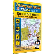 Fishing Hot Spots Pro usa digital map   fishing chip - nationwide inland lakes   waterways 2016