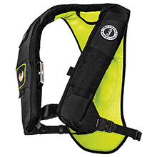 MUSTANG SURVIVAL Elite 28K Inflatable PFD Automatic HIT Inflator - Black/Fluorescent Yellow Green