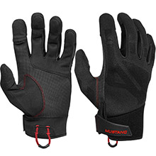 MUSTANG SURVIVAL Traction Conductive Glove - Black/Red - Large