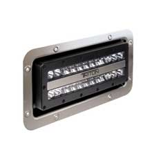 LUMITEC Triton high powered flood light %2D semi%2Drecessed mount %2D black housing %2D white non%2Ddimming %2D 24vdc