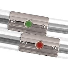 TACO METALS Rub rail mounted navigation lights f/boats up to 30 ft - port starboard included