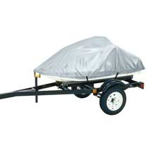 DALLAS MFG CO. Polyester personal watercraft cover b, fits 3 seater model up to 124inch l x 49inch w x 40inch h - silver
