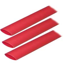 Ancor Heat shrink tubing 3/4inch x 3inch red 3 pack 8-2/0 awg