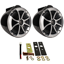 WET SOUNDS INC Icon8 8inch wakeboard tower speakers pair w/x mount hardware - black
