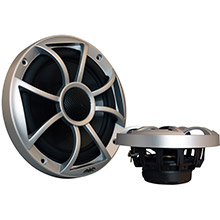 WET SOUNDS INC 65i xs series 6.5inch coaxial speakers w/silver grille/black cone