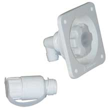 JABSCO 45psi water pressure regulator flush mount white