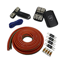 WET SOUNDS INC 1/0 gauge true spec 100 percent oftc power wiring kit for up to 2 amplifiers - rear