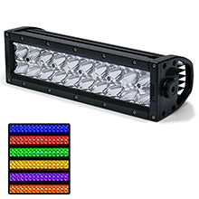 ROGUE 4 4 delta series 10inch rgb light bar - combo beam - black