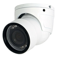 SPECO 960h weather/vandal resistant mini dome/turret color camera, 3.6mm fixed lens - white housing