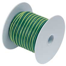 ANCOR Green w/ yellow stripe 25ft 10 awg wire