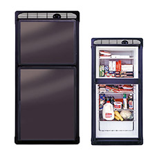 NORCOLD 7.0 Cubic Ft. AC/DC Marine Refrigerator - Black - Left Hand Open
