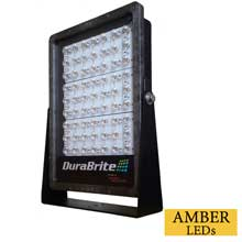 DURABRITE Slm spot light - black housing/amber leds - 270w - 12/24v - 35,000 lumens at 24v