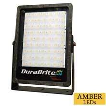 DURABRITE Slm flood light - black housing/amber leds - 300w - 100-300vac - 35,000 lumens