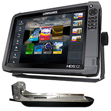 LOWRANCE HDS-12 Gen3 Insight/HDS-12 Boat in a Box w/HDI Skimmer, Sonic Hub2