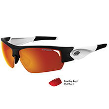Tifosi Optics Lore sl black/white single lens sunglasses - smoke red