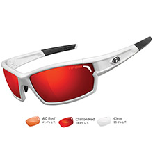 TIFOSI OPTICS Camrock matte white interchangeable sunglasses - clarion red/ac red/clear