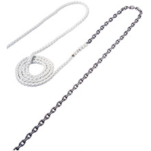 MAXWELL Anchor Rode - 15ft-1/4 inch Chain to 150ft-1/2 inch Nylon Brait