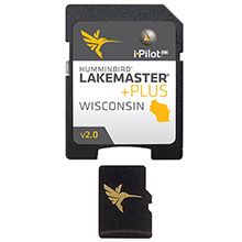 HUMMINBIRD Lakemaster wisconsin plus - version 2.0 - microsd/sd
