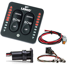 LENCO MARINE LED Indicator Integrated Tactile Switch Kit w/Pigtail f/Single Actuator Systems