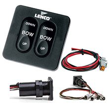 LENCO MARINE Standard Integrated Tactile Switch Kit w/Pigtail f/Dual Actuator Systems