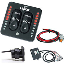 LENCO MARINE LED Indicator Two-Piece Tactile Switch Kit w/Pigtail f/Single Actuator Systems
