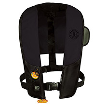 MUSTANG SURVIVAL HIT Automatic Inflatable PFD - Law Enforcement Edition w/Customizable Back Flap - Black