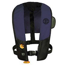 MUSTANG SURVIVAL HIT Automatic Inflatable PFD - Law Enforcement Edition w/Customizable Back Flap - Navy/Black