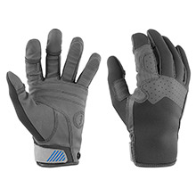 MUSTANG SURVIVAL Traction full finger glove - gray/blue - x-large