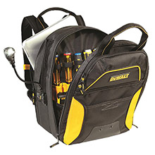CLC WORK GEAR CLC DGCL33 DEWALT 33 Pocket Lighted USB Charging Tool Backpack
