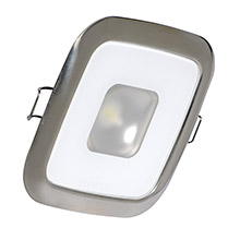 LUMITEC Square mirage down light - white dimming - polished bezel