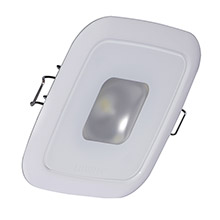 LUMITEC Square mirage down light - white dimming, red/blue non-dimming - white bezel