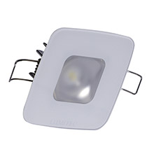 Lumitec Square mirage down light - white dimming, red/blue non-dimming - glass housing no bezel