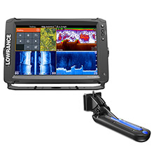 LOWRANCE Elite-12 Ti with TotalScan Transom Mount Transducer and Insight Pro by C-map Chart