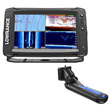 LOWRANCE Elite%2D9 Ti Chartplotter and fishfinder with Totalscan Transom Mount Tranducer and Insight Pro By C%2DMap Chart