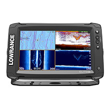 LOWRANCE Elite%2D9 Ti Combo with Med and High and DownScan HDI Transom Mount Transducer