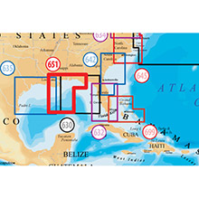 NAVIONICS Central Gulf of Mexico Platinum Marine Charts on Compact Flash