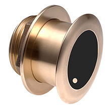 Airmar B175hw wide-beam chirp bronze thru-hull transducer - bare wire - 600w - 0 deg
